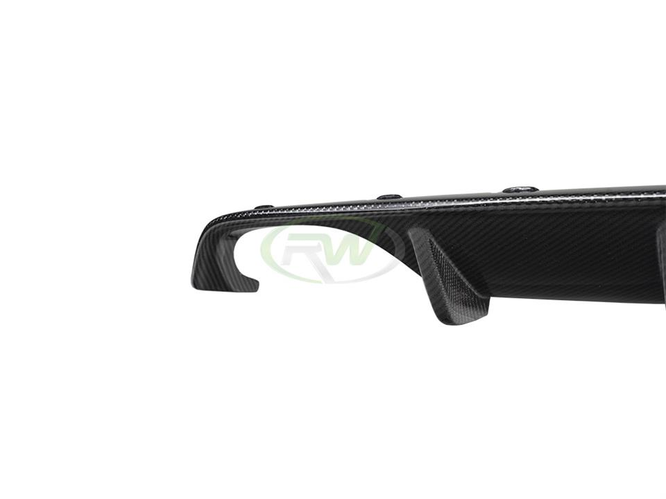 rw carbon fiber bmw f8x cf performance style rear diffuser