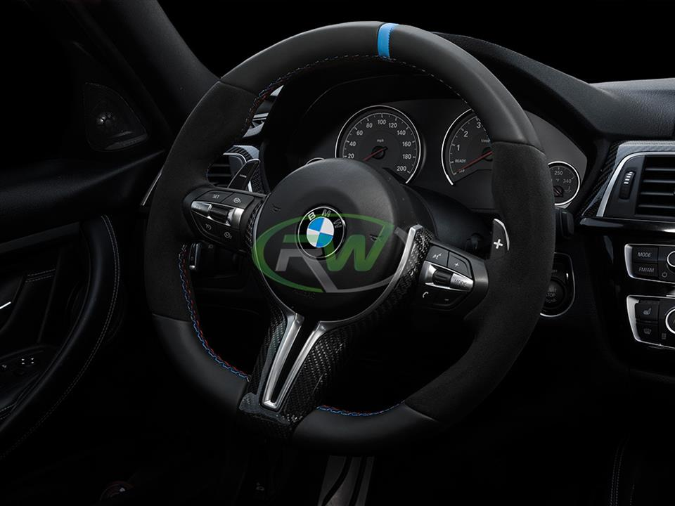 bmw f80 m3 sedan with rw carbon fiber outer cf steering wheel trim