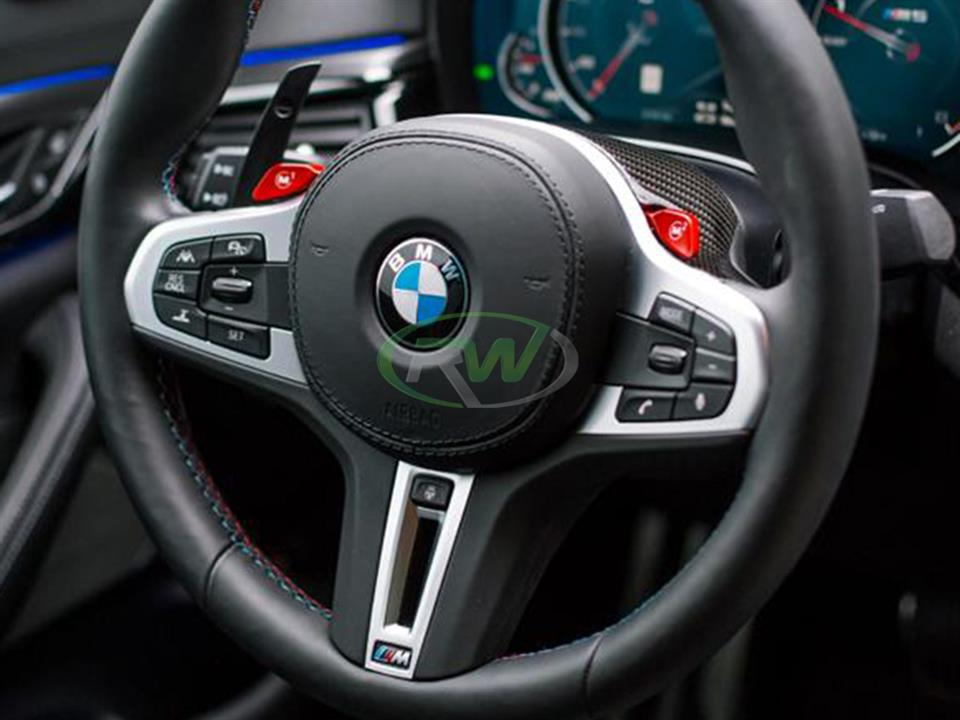 rw carbon fiber bmw g30 g32 g11 f90 g01 g02 cf steering wheel top cover