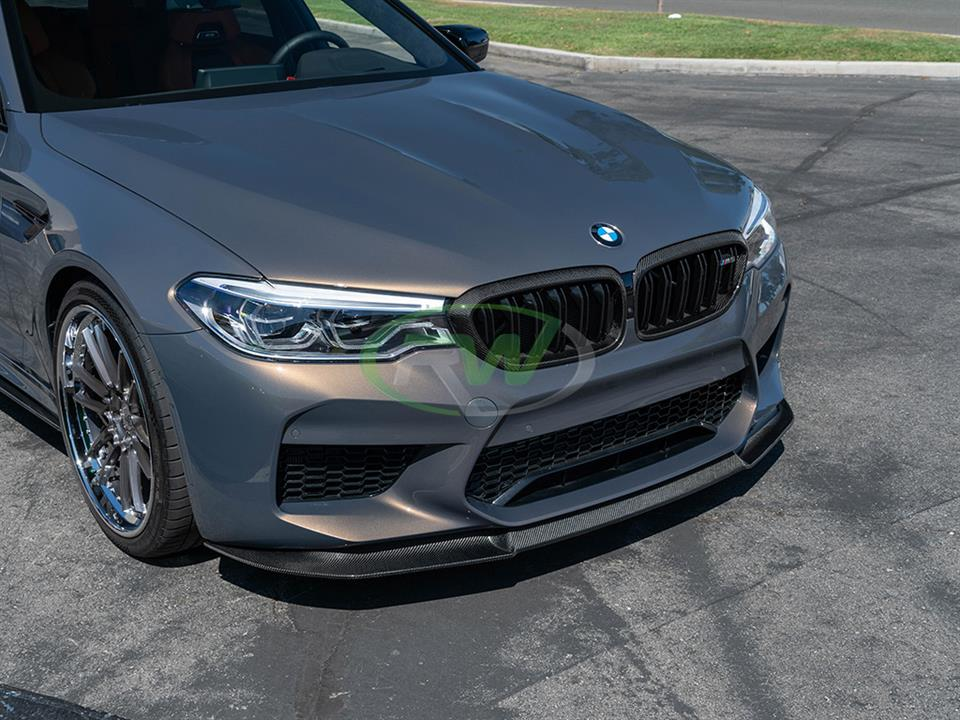 rw carbon fiber bmw f90 m5 signature front lip