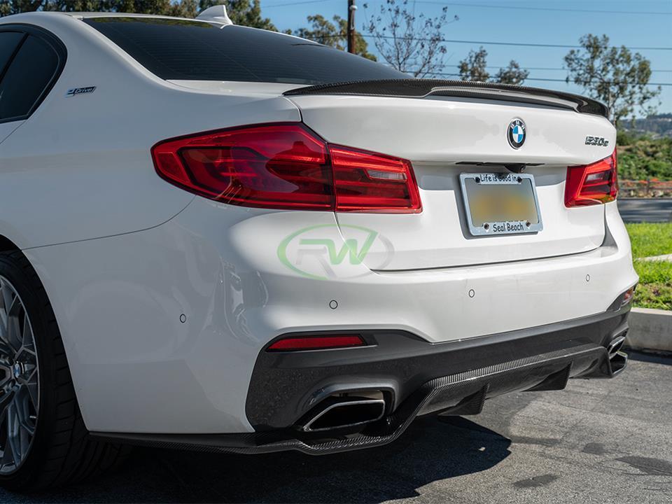 RW Carbon | BMW G30 5-Series 3D Style Carbon Fiber Diffuser