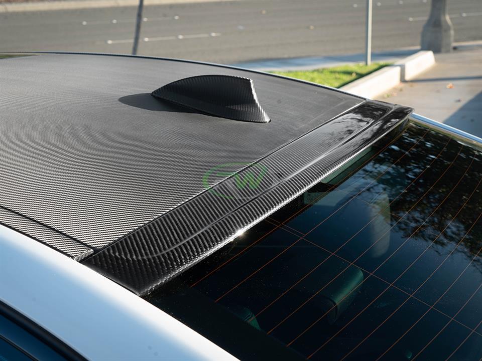 Bmw G30 F90 Carbon Fiber Roof Spoiler 530i 530e 540i M550i M5