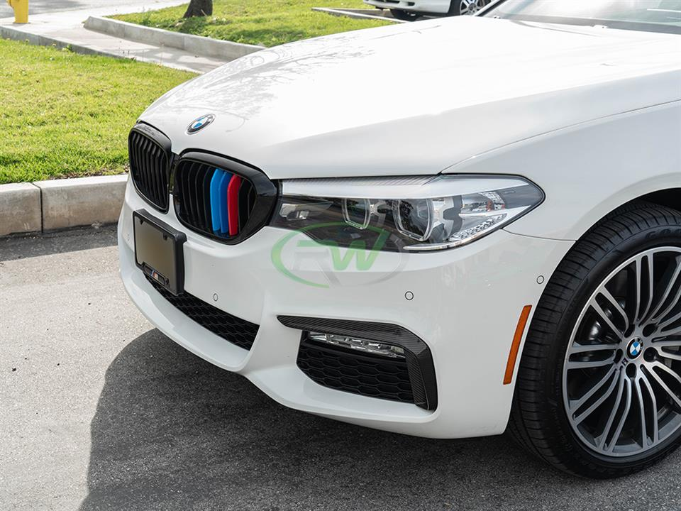 rw carbon fiber bmw g30 cf brake duct trims
