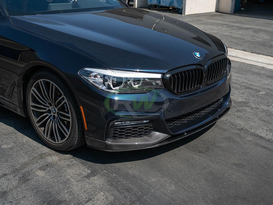 rw carbon fiber bmw g30 performance style cf front lip