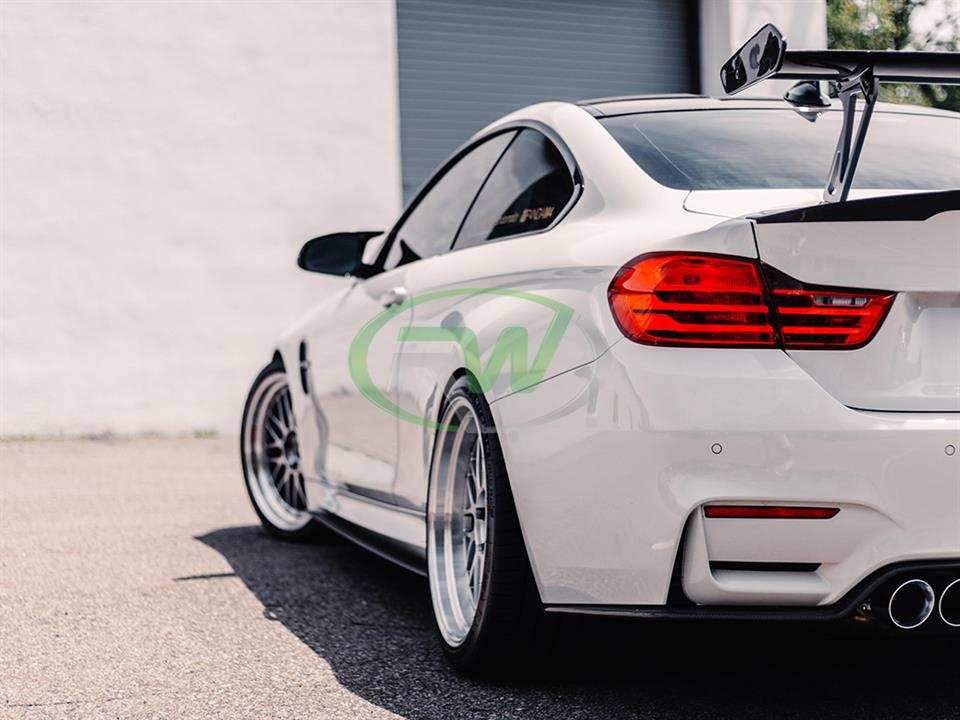 rw carbon fiber bmw f83 m4 gas style carbon fiber rear wing