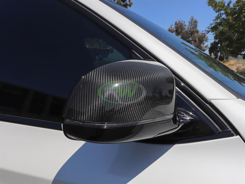 rw carbon fiber bmw f85 x5m cf mirror cap replacements