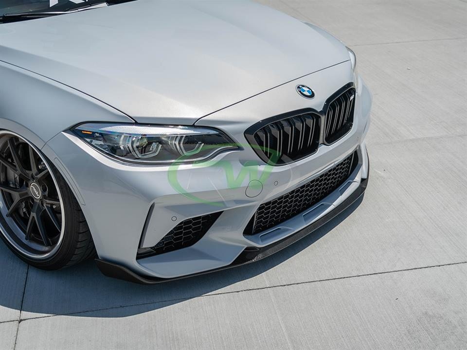 rw carbon bmw f87 m2 comp cf front lip