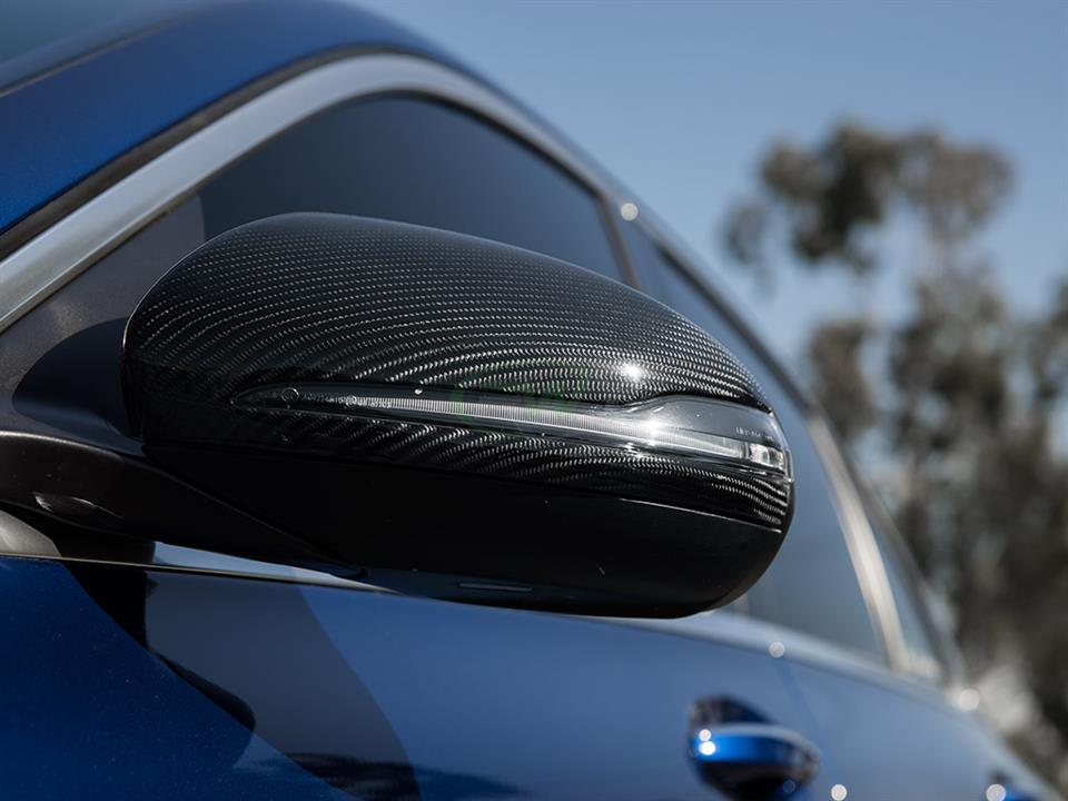mercedes benz w205 c63s amg sedan rw carbon fiber mirror cap replacement