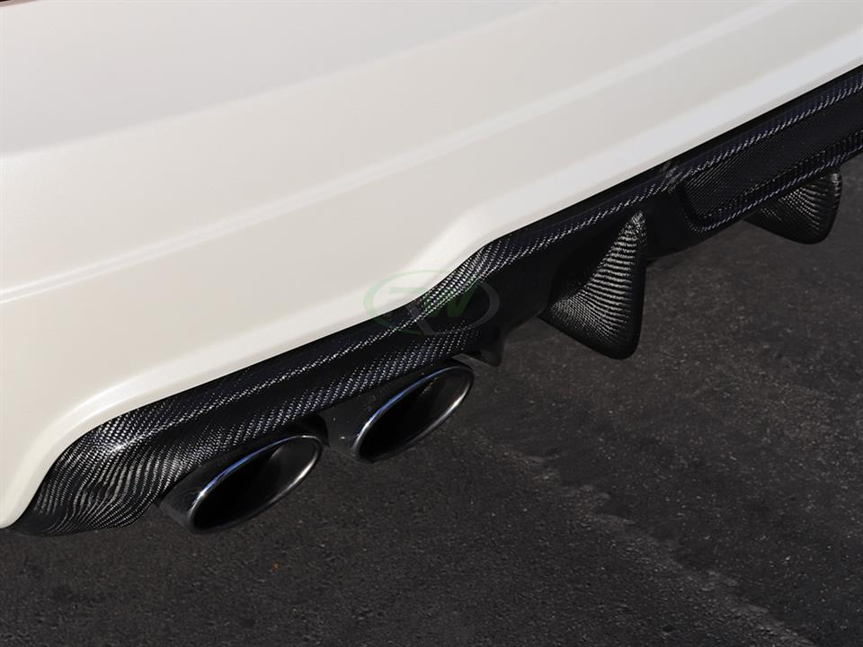 White Mercedes W204 C63 Coupe gets an RW Carbon DTM Diffuser