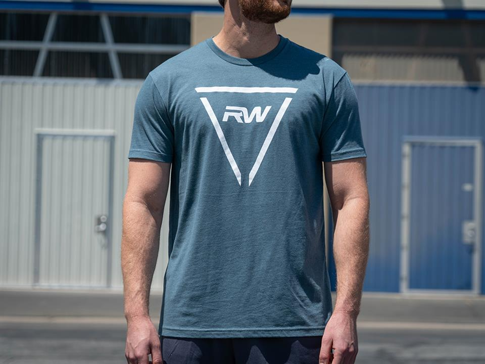 rw carbon cool blue triangle tee