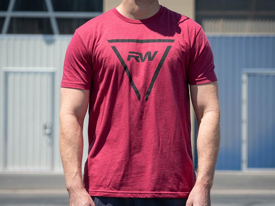 rw carbon red triangle tee