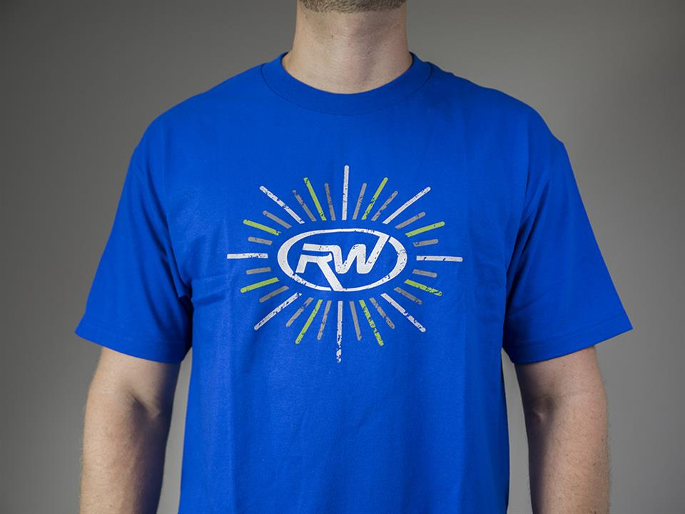 blue rw carbon fiber popping logo t shirt