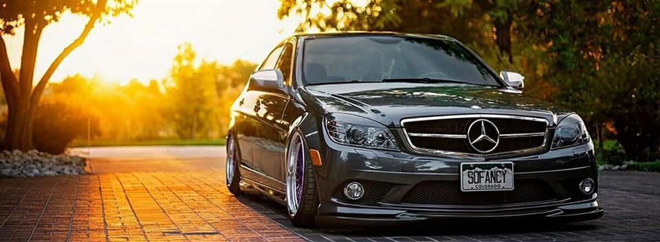 2012-2014 Mercedes-BENZ W204 C-Class Sedan Rear Bumper Carbon Fiber Splitter Lip