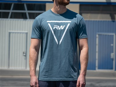 RW Triangle Tee - Cool Blue