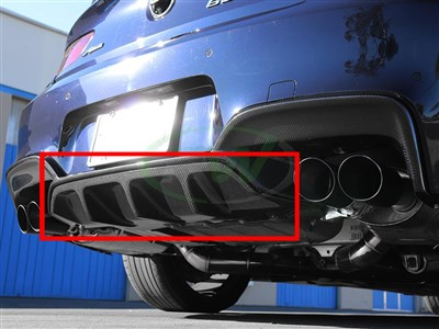 BMW F06 F12 F13 M6 Carbon Fiber Center Diffuser