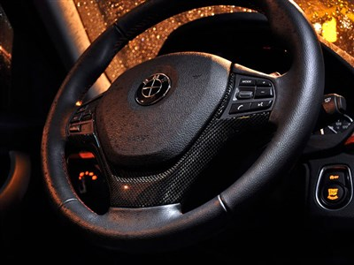 BMW F30 F32 Carbon Fiber Steering Wheel Trim
