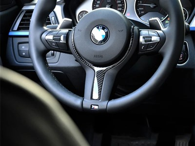 BMW Carbon Fiber Steering Wheel Trim M-Sport