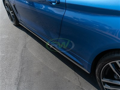 BMW F32/F33/F36 Carbon Fiber Side Skirt Extensions
