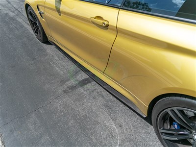 BMW F82/F83 M4 CF Side Skirt Extensions