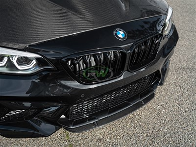 BMW F87 M2 Center Carbon Fiber Front Lip Spoiler