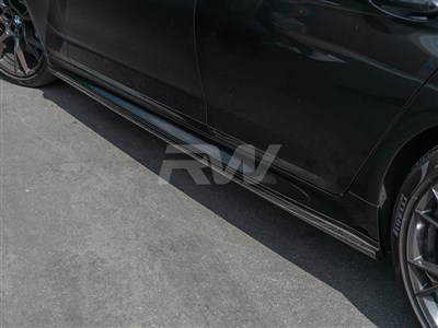 BMW G30 F90 3D Style CF Side Skirt Extensions