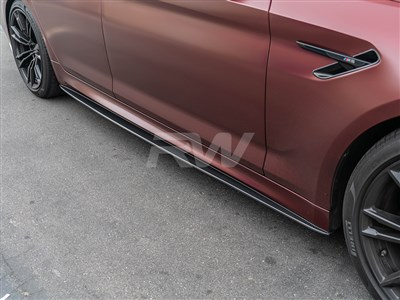 BMW G30 F90 Carbon Fiber Side Skirt Extensions
