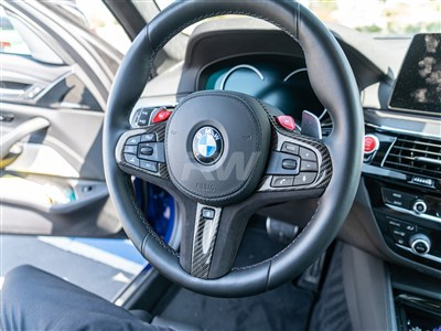 BMW Carbon Fiber Alcantara Steering Wheel Trim