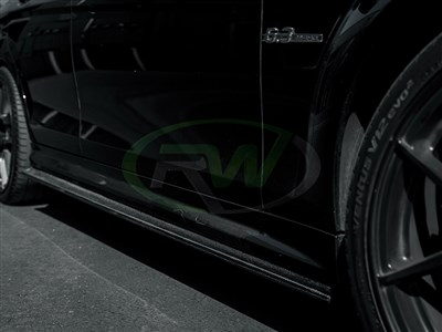 Mercedes W204 C63 CF Side Skirt Extensions