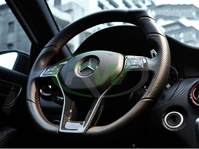 Mercedes Carbon Fiber Steering Wheel Trim