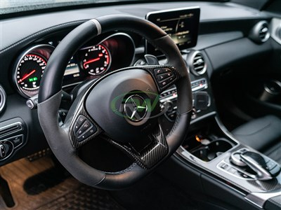 Mercedes AMG Carbon Fiber Steering Wheel Trim