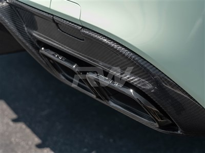 Mercedes C63 AMG Style Chrome/Black Exhaust Tips