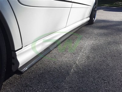 Mercedes W211 E63 CF Side Skirt Extensions