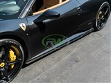 Ferrari 458 Carbon Fiber Side Skirt Extensions /