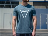 RW Triangle Tee - Cool Blue /