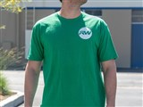 RW Circle Pocket Tee - Signal Green /