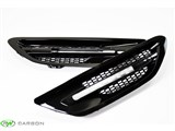 BMW F10 M5 Gloss Black Fender Grilles /