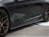 BMW F10 F11 3D Style Carbon Fiber Side Skirt Extensions /