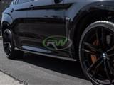 BMW F16 X6 / F86 X6M CF Side Skirt Extensions /