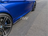 BMW F80 M3 Carbon Fiber Side Skirt Extensions /