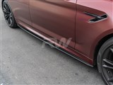 BMW G30 F90 Carbon Fiber Side Skirt Extensions /