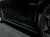 Mercedes W204 C63 CF Side Skirt Extensions /