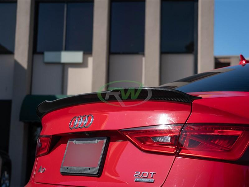 Audi A3 S3 RS3 Style Carbon Fiber Trunk Spoiler