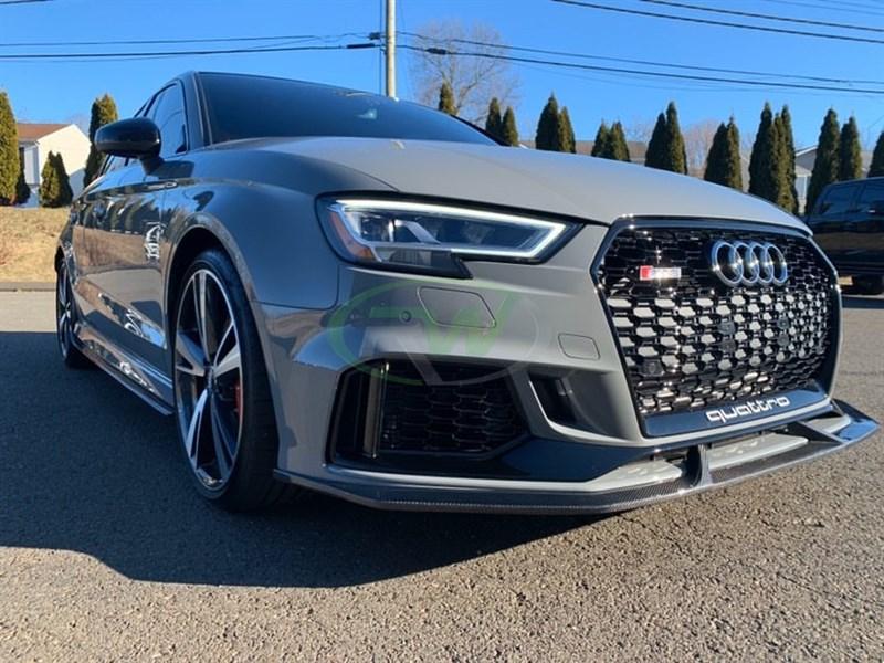Audi 8V RS3 17+ Carbon Fiber Front Lip Spoiler