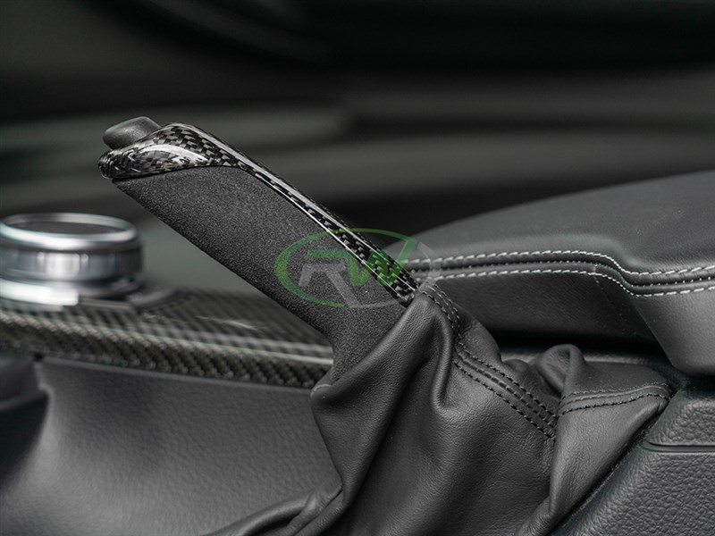 Click to check out RW Carbon's new CF and Alcanatara eBrake handle for the BMW M2