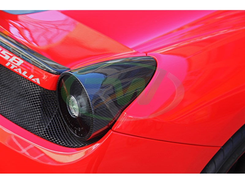 Carbon fiber tail light covers for your Ferrari 458