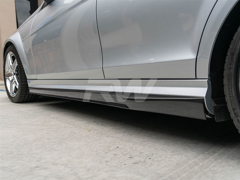 Exterior style for your Mercedes W204 C63 AMG - RW Carbon DTM Carbon Fiber Side Skirt Extensions