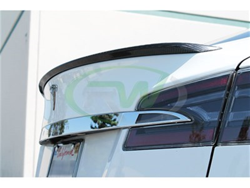 Check out RW Carbon's CF Trunk Spoiler for the Tesla Model S