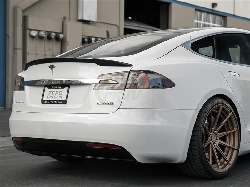 Click to view the Revo Sport Style trunk spoiler for the Tesla Model S