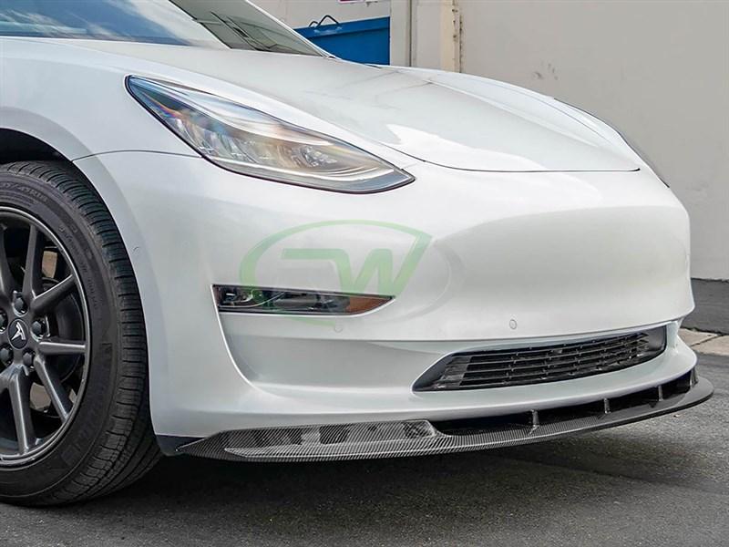 Tesla Model 3 RWS Carbon Fiber Front Lip Spoiler