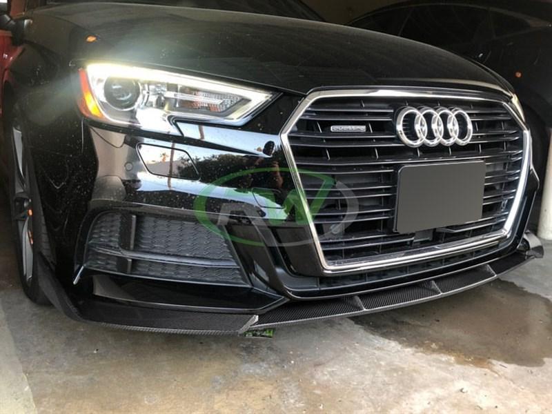Audi 8v A3 S-Line Facelift Carbon Fiber Front Lip
